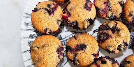 Healthy Blueberry Mini Muffins